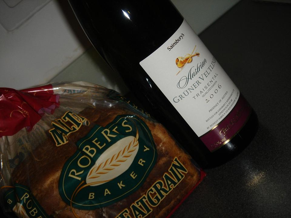 Bread and wine…for some reason