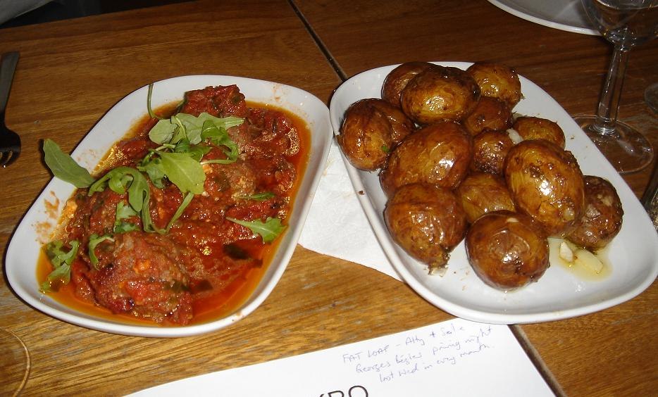 Albondigas and potatoes mmmmmmmm