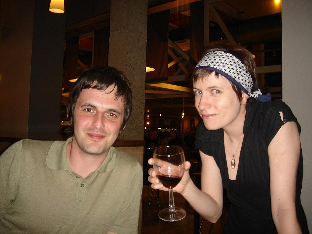Martin and Zoe - cheers - hic!