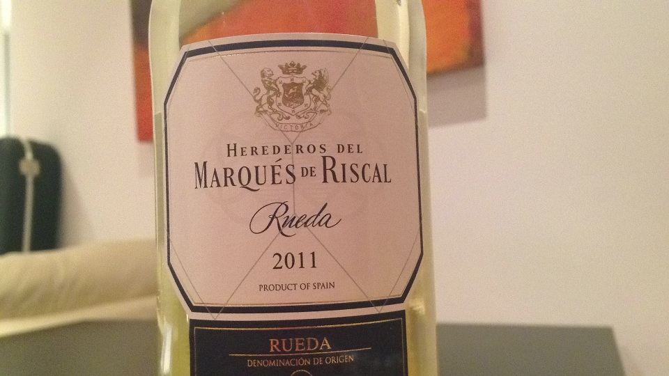 Riscal Rueda 2011. Not a Rioja...for some reason.