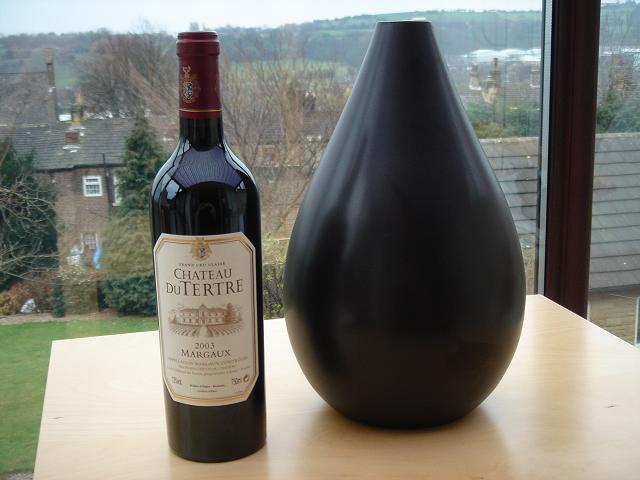 Château du Tetre 2003…and a Mango Wood Vase (for some reason)