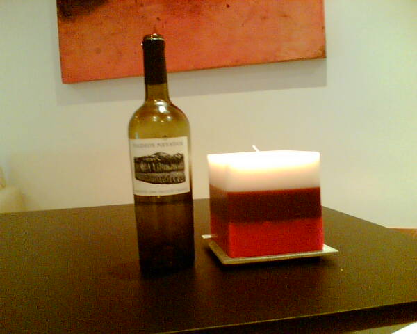Faldeos Nevados Torrontés 2006….and a candle for some reason
