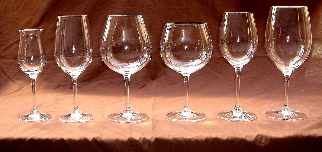 The usual suspects - my entire range of glasses