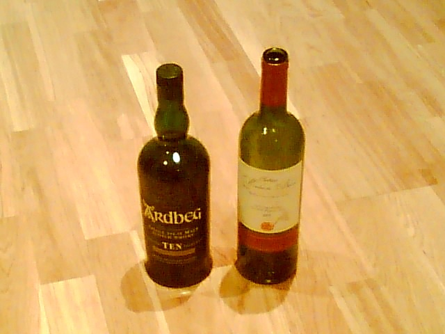 Ch. Moulin du Barrail…..and a bottle of the excellent Islay Malt - Ardbeg (for some reason)