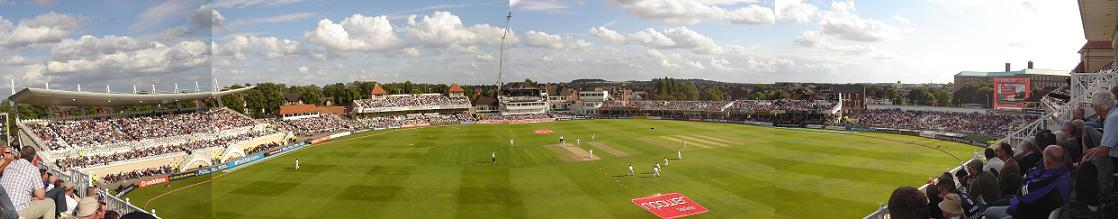 It'a another panoramic attempt - Trentbridge cricket ground this time
