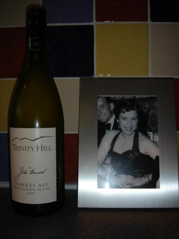 Trinity Hill with a picture of my mum at the Café de Paris in London in 1954 (for some reason)