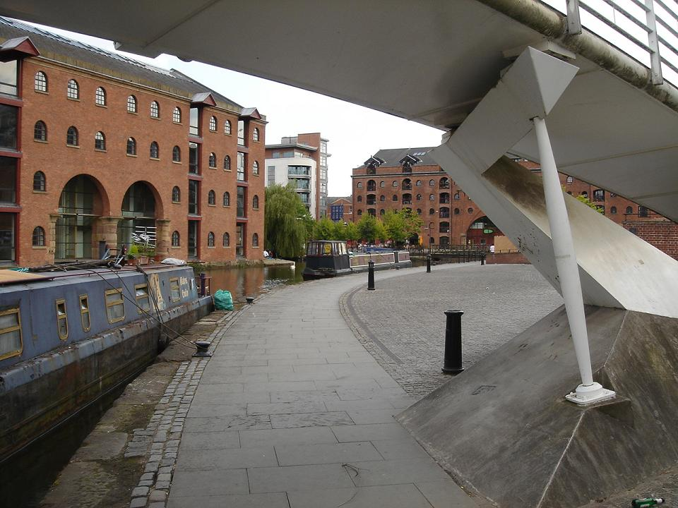 View from the bridge.  Castlefield with Choice in the distance…for some reason.