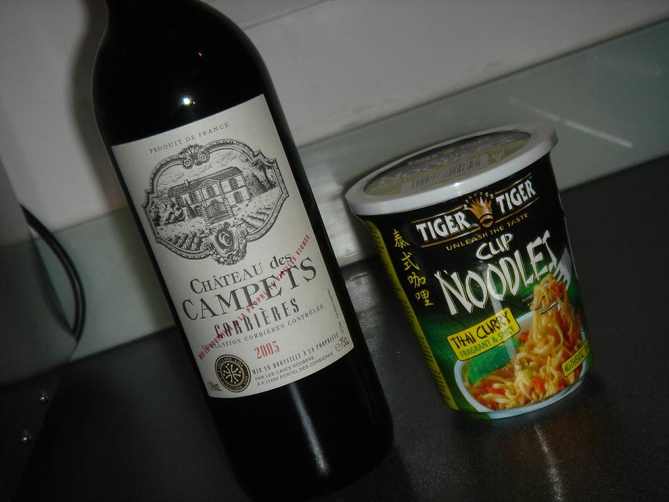 "Campets and a ""proper"" pot noodle (for some reason)"