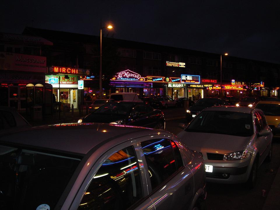Paris by night?  Er no….Rusholme actually