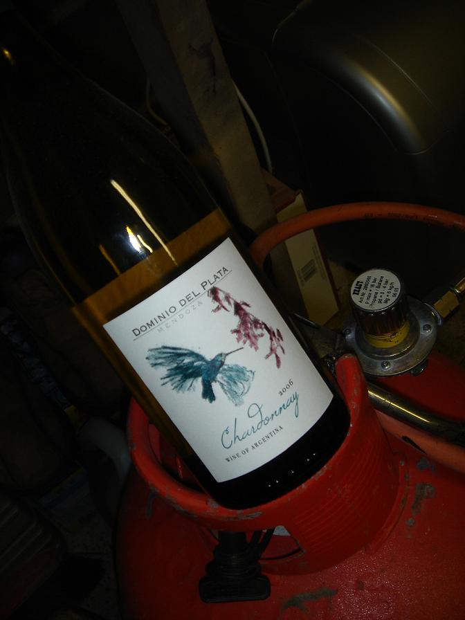 Chardonnay, but the only gas is in the canister