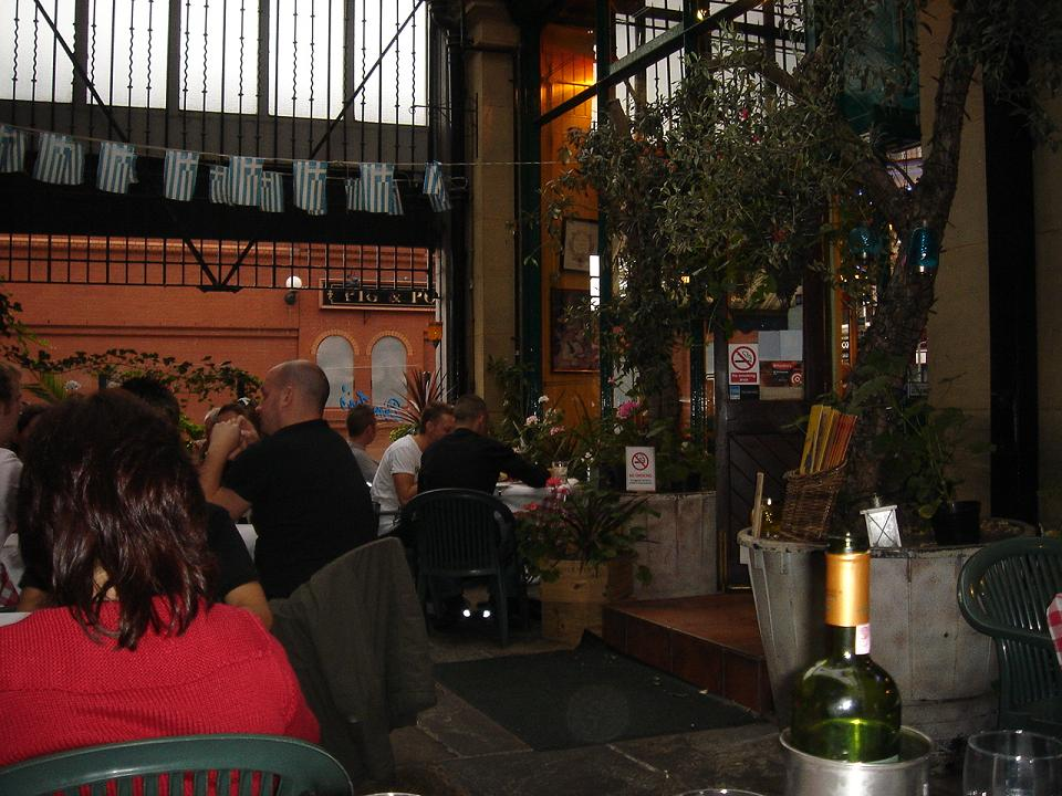 Nice atmosphere - the outside/inside bit of Dimitris
