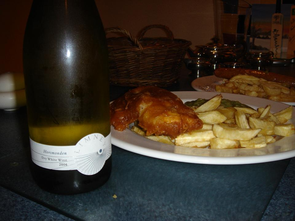 Limney goes great with battered haddock, chips and mushy peas