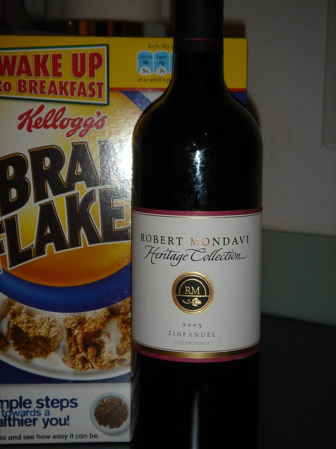 Eating healthy - Mondavi and Bran Flakes…for some reason