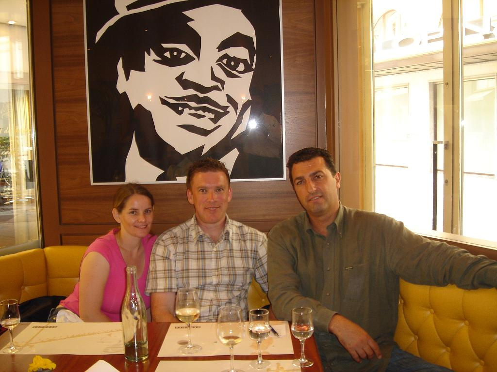 Alban, me and Freda with Fats Waller looking down on us (for some reason)