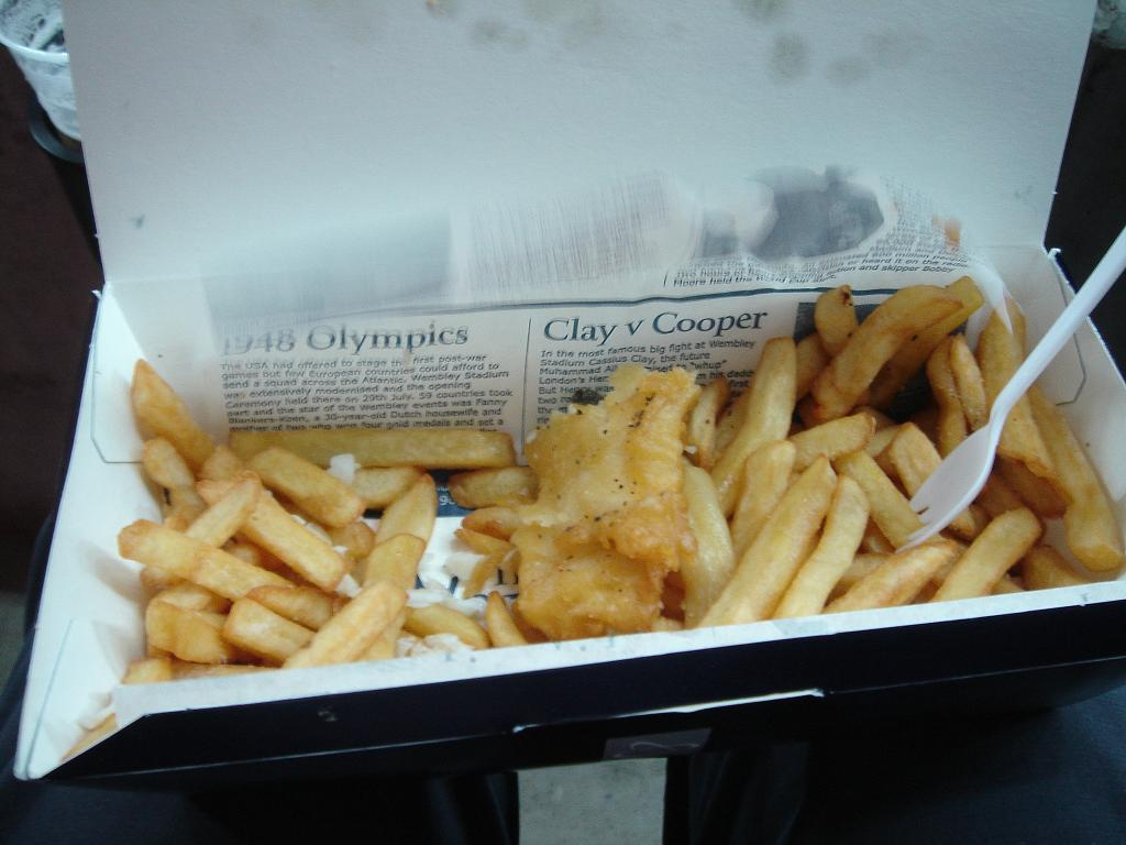 £8 for fish n chips - you're 'aving a larf aren't you?