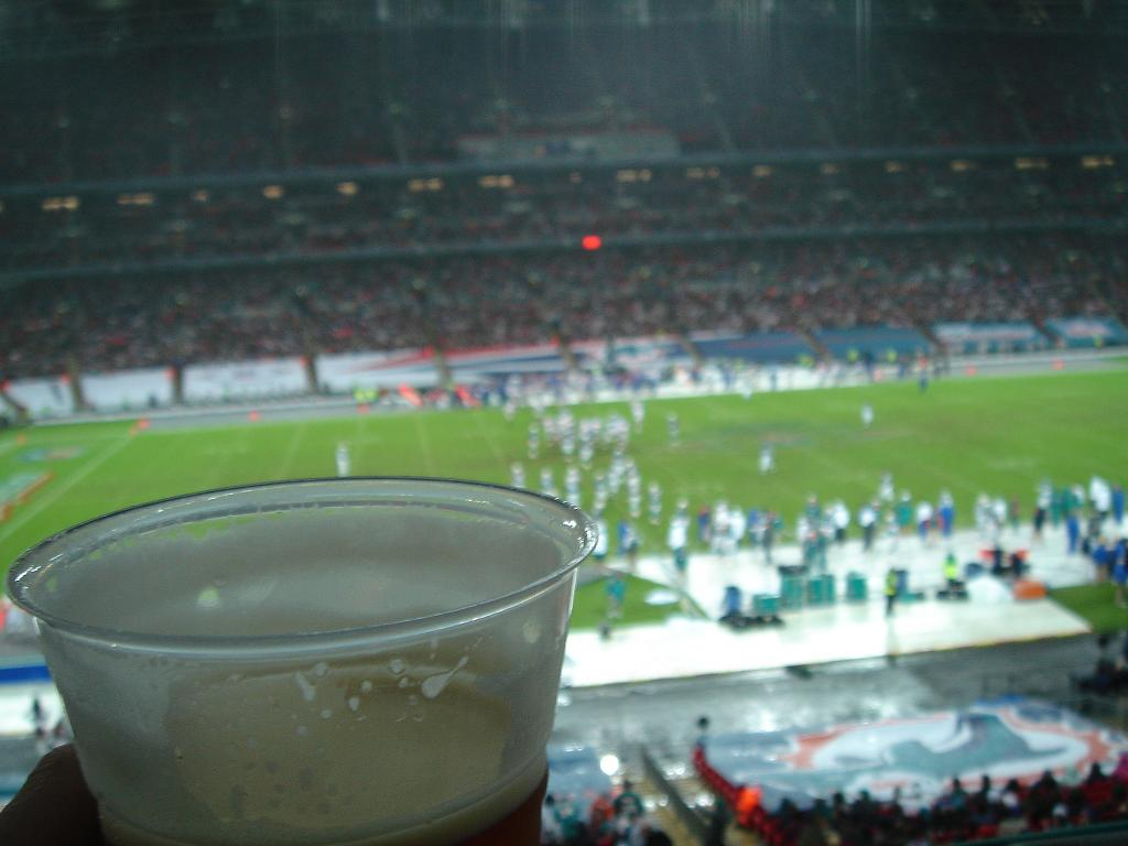 Tetleys at Wembley - it was rubbish - stick to the lager.