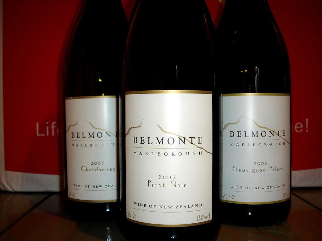 Belmonte Pinot Noir and its siblings…for some reason