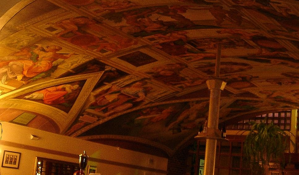 …and Michelangelo inspired ceilings!