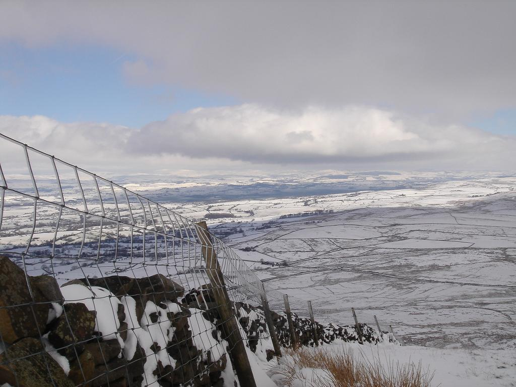 View from the top…..of Pendle Hill