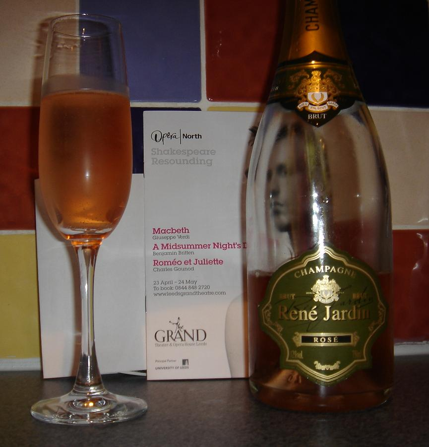 Opera North - and no phantom, but a bottle of René Jardin for some reason…