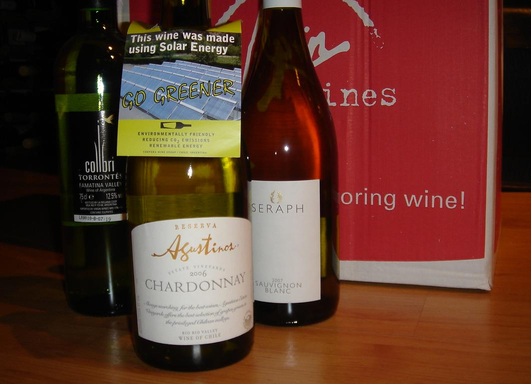 Agustinos Chardonnay…..made in Chile from green things…for some reason
