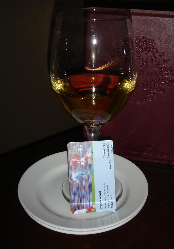 Dessert wine in a HUGE glass….for some reason