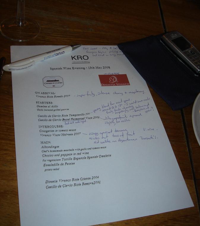 Wino's notes