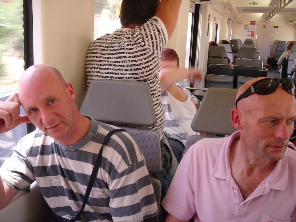 Paul and Glenn - glum on the train