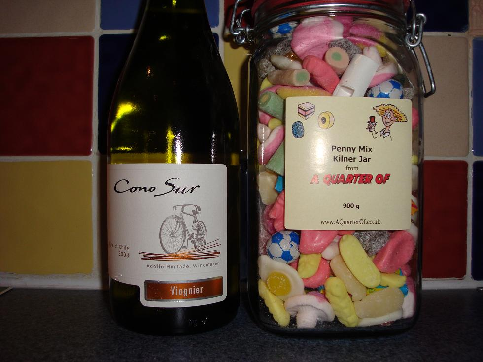 Cono Sur and some retro sweets....for some reason