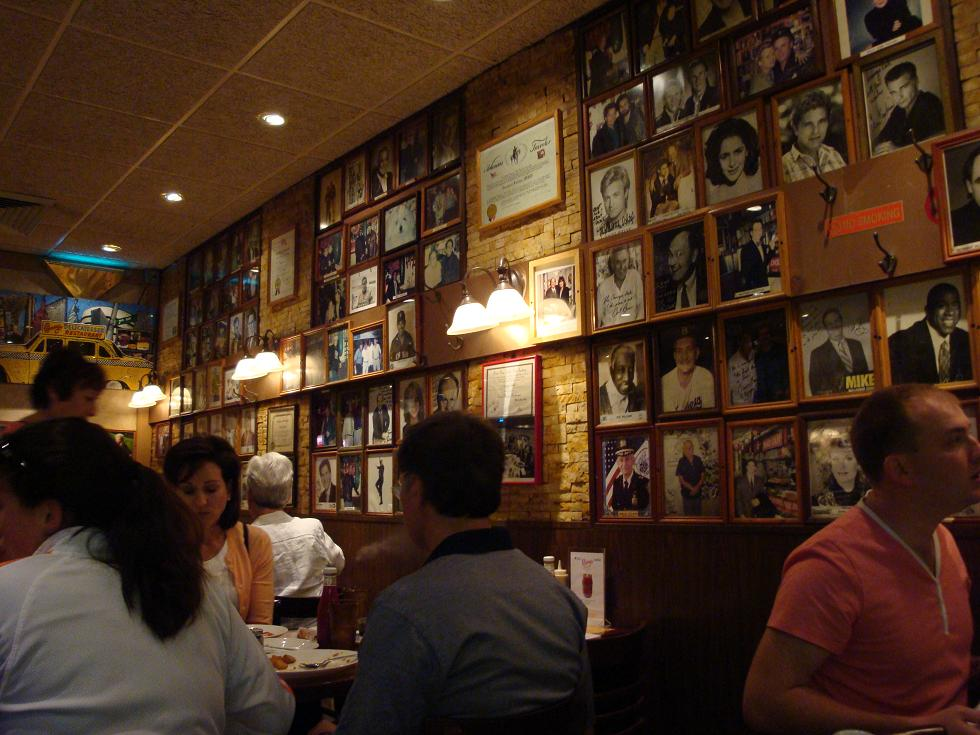 Carnegie deli walls papered with stars