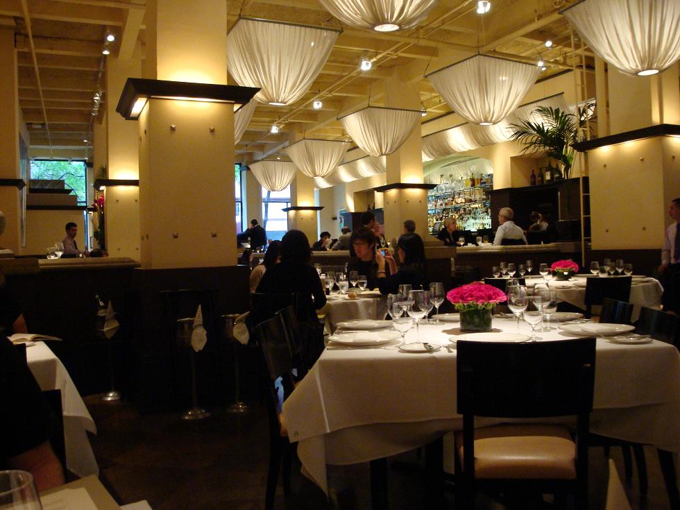 Gotham Grill's generous and solid interior