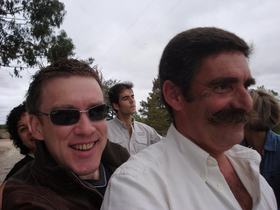 Nice tache but who is the ugly bloke on the left?