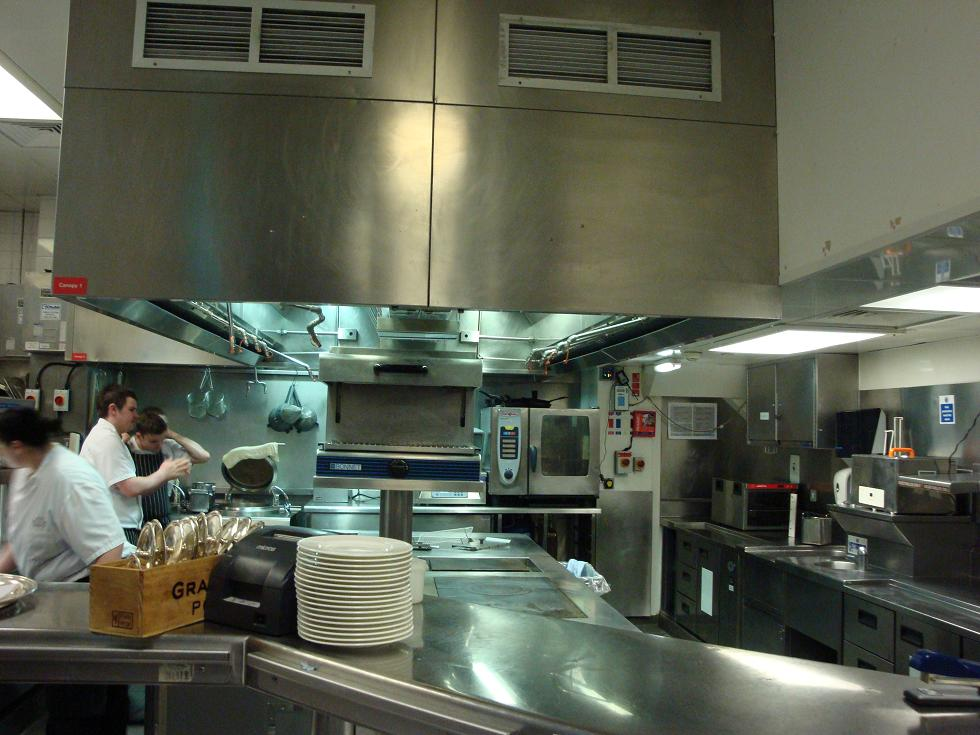 This is what the kitchen staff see when they are focussed on their job - Galvin at Windows